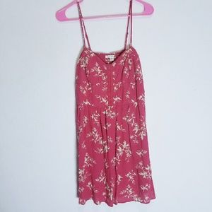 American Eagle Sundress Sz S red floral cute